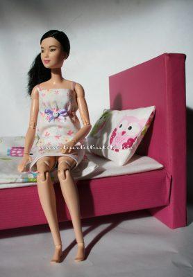 barbie ágy barbieval