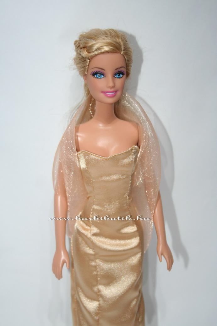 barbie estélyi ruha szatén arany organza stolával2