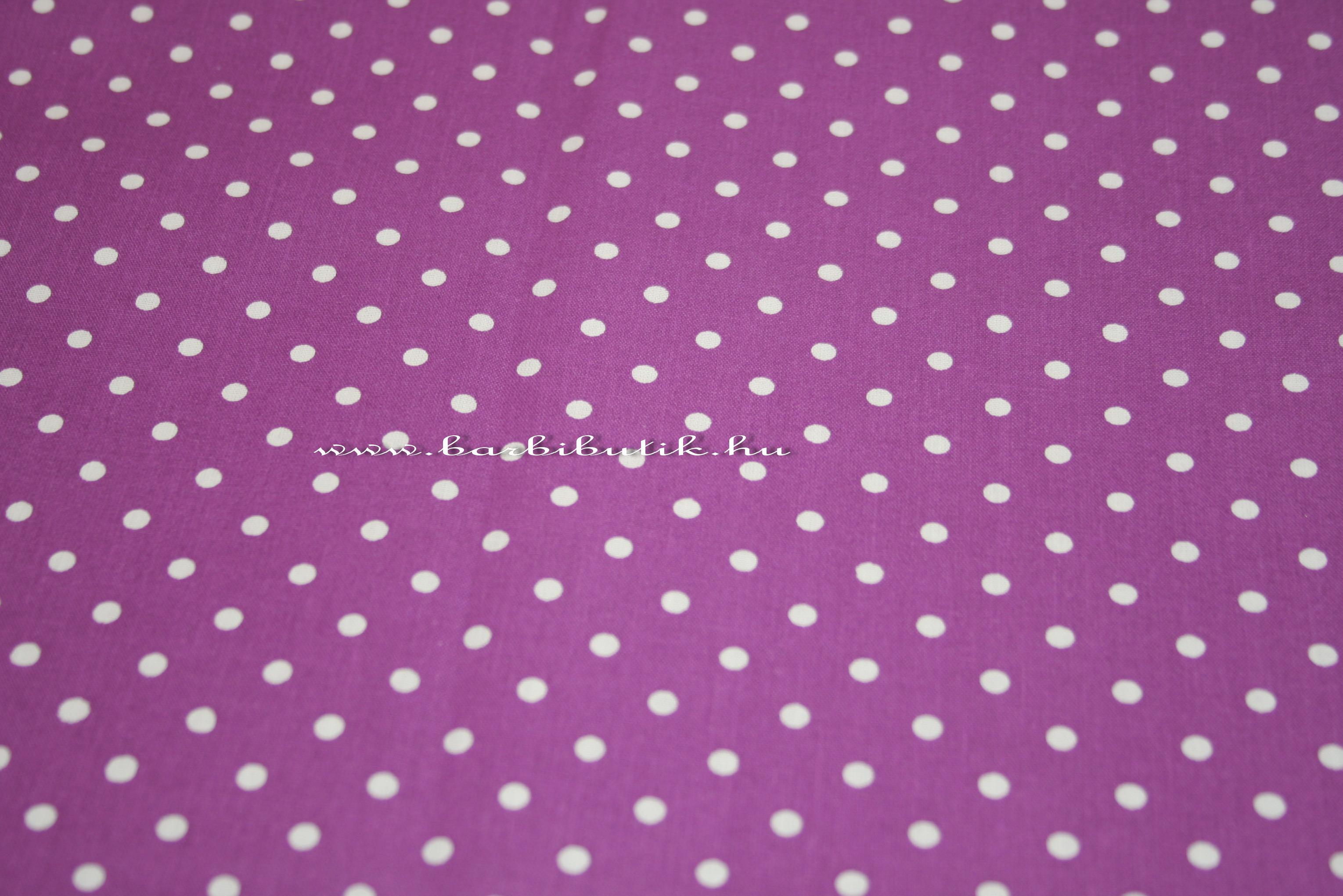 sötét lila nagy pöttyös pamutvászon