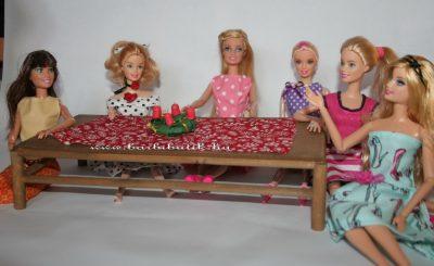 barbie adventi koszorú