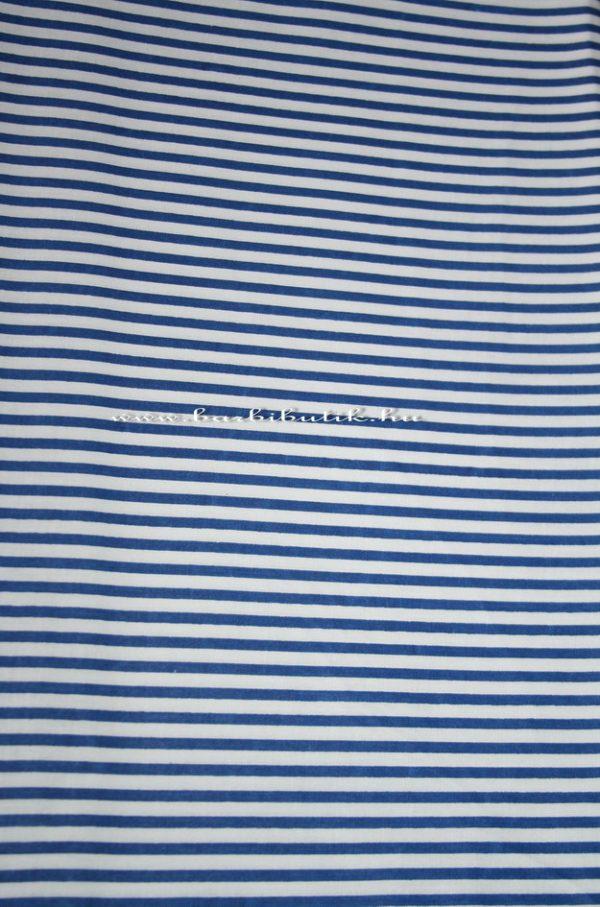 kék fehér csíkos pamutvászon