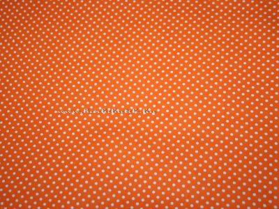 narancs pöttyös pamutvászon barbie ruhákhoz