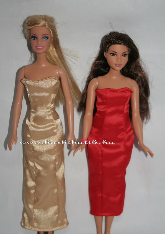 original és curvy barbie estélyi ruha