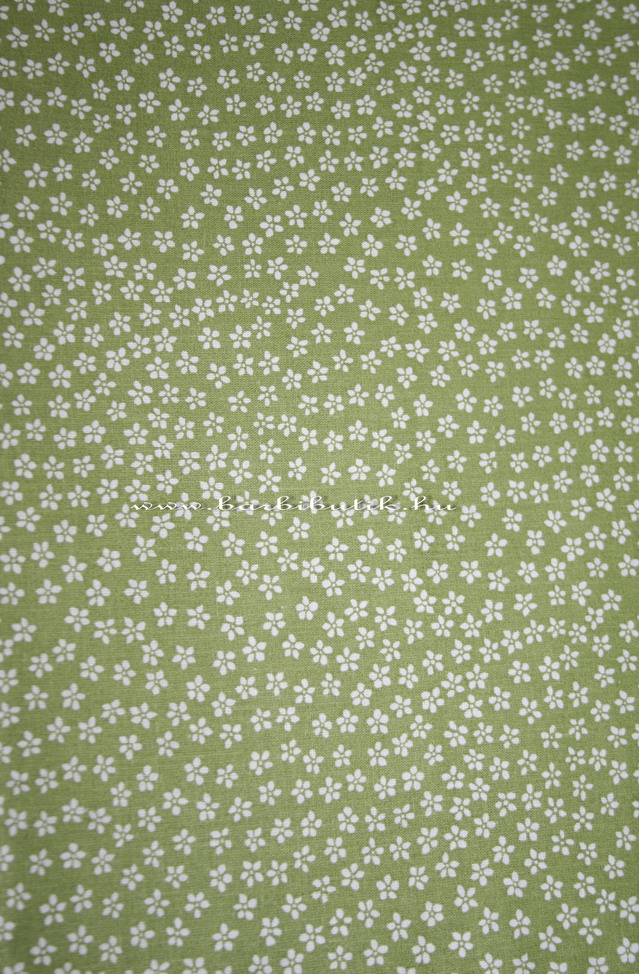 zöld fehér apró virágos textil