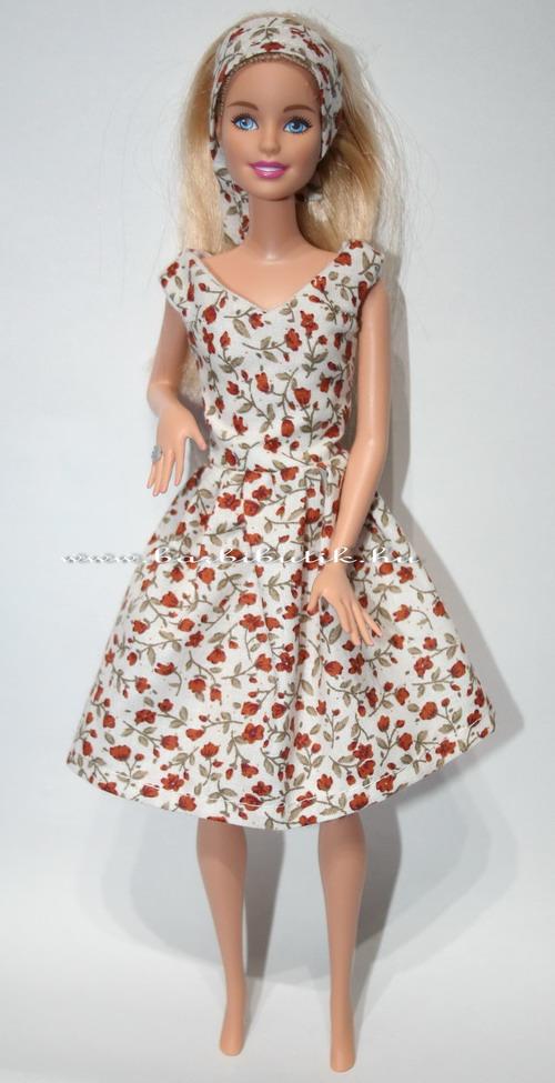 5dcc33e391 Barbie ruha készítő csomag V nyakú rózsás ruha | Barbibutik