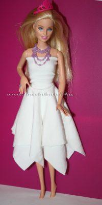 barbie szoknya négyzetekből piros toppal