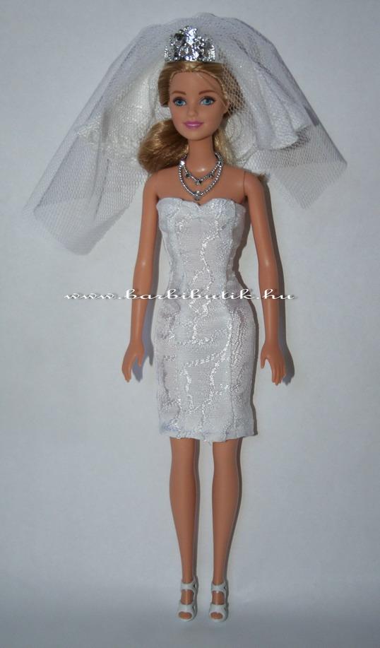 barbie menyasszonyi ruha uszály nélkül