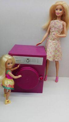 mosógép barbiekkel