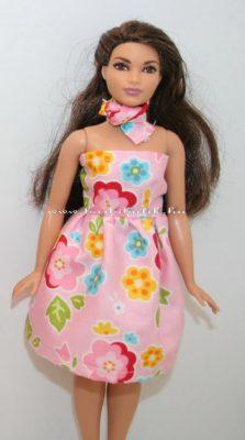 egyszerű pánt nélküli ruha curvy barbie