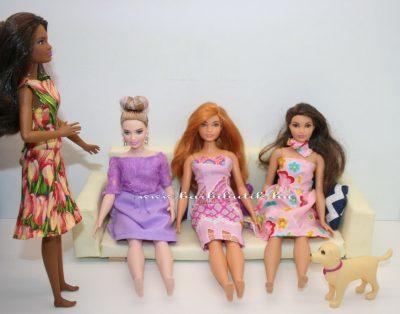 ruhapróba fekete barbie