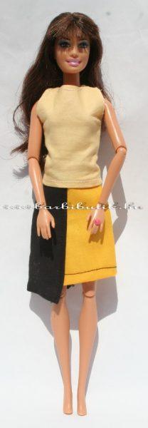 barbie sárga fekete szoknya