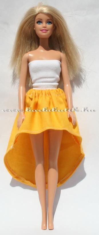 sárga barbie hercegnős szoknya