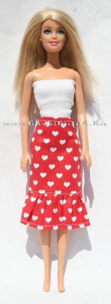 szivecskés barbie szoknya