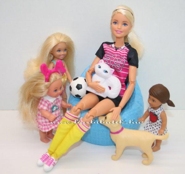 Focista Barbie a gyerekekkel és kutyával chelsea
