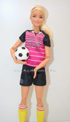 Focista barbie labdával