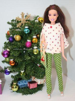 Barbie pöttyös bolero