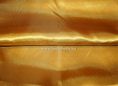arany szatén anyag barbie ruhához