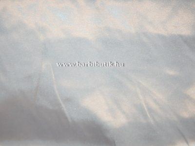 fehér szatén anyag barbie ruhákhoz