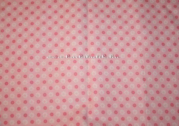 rózsaszín virágos pamutvászon barbie ruhákhoz