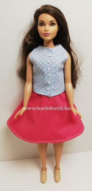 pink barbie harangszoknya kék gombos felső 2