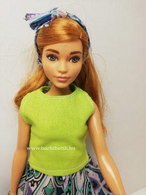 zöld curvy dundi barbie felső