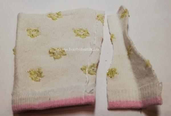 szoknya készítése  zokniból barbienak
