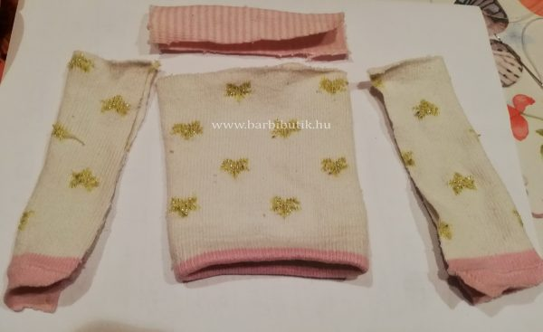 pulóver készítése  zokniból barbienak 1