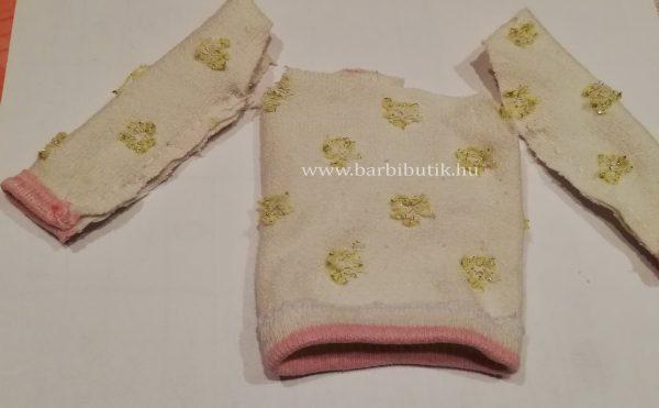 pulóver készítése  zokniból barbienak 3