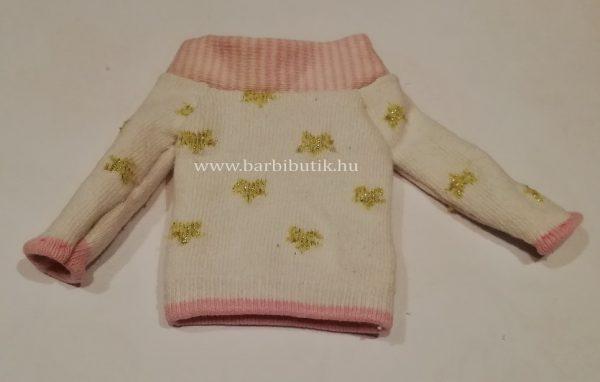pulóver készítése  zokniból barbienak 8