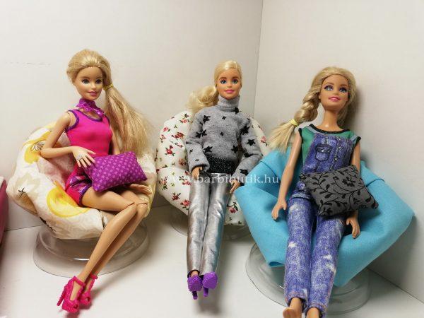 Barbie fotel kész mindhárom