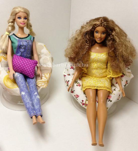 Barbie fotel kész virágos 1